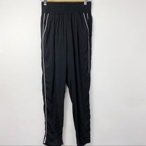Dynamite black joggers with white piping